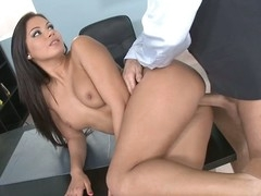 Cipriana, The Secretary, Is Pleasing Her Boss With Favors!