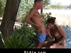 What a eager old stud would not want to be fucked by engulf a pretty youthful cutie. Angel Rivas knows how to satisfy the dicks and can't live without being wazoo nailed by 'em.  Two old knob for a youthful cute booty here